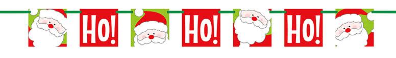 Ho Ho Ho Christmas Cardboard Block Banner 152cm