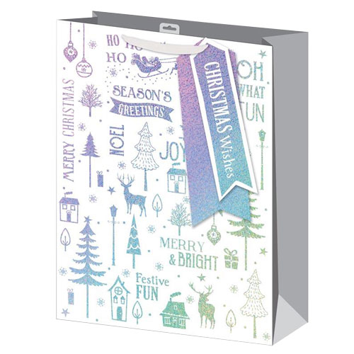 Holographic Icons Christmas Extra Large Gift Bag 45cm