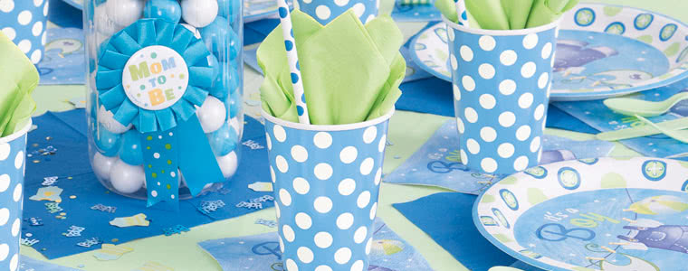 Its A Boy Clothesline Party Supplies Top Image