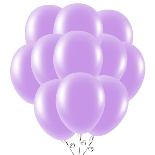 Lavender Latex Balloons 23cm / 9Inch - Pack of 50