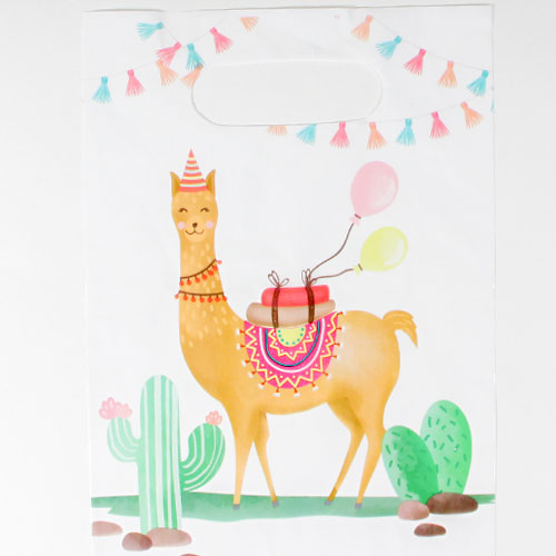 Llama Party Loot Bags - Pack of 6