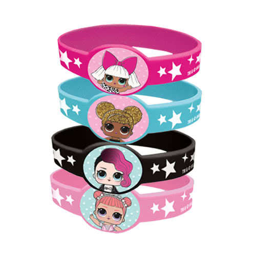 LOL Surprise Stretchy Rubber Bracelets - Pack of 4 Product Image