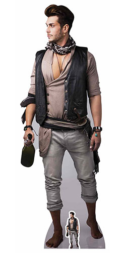 Male Pirate Lifesize Cardboard Cutout 180cm Product Gallery Image