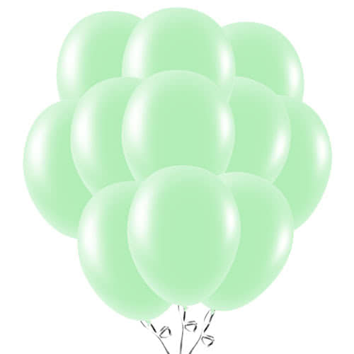 Mint Green Latex Balloons 23cm / 9Inch - Pack of 50