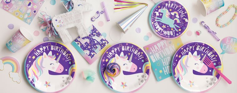Party Time Unicorn Party Supplies Top Image