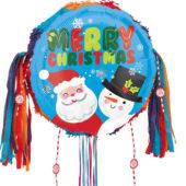 Santa And Snowman Christmas Pull String Pinata
