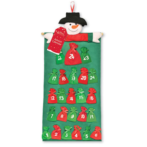 Snowman Christmas Advent Calendar 78cm