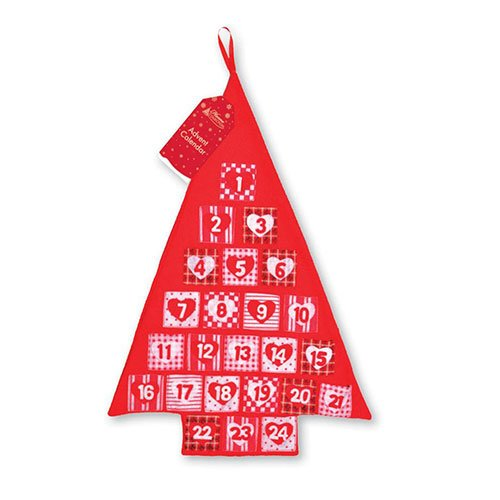 Tree Christmas Advent Calendar With Pockets 62cm