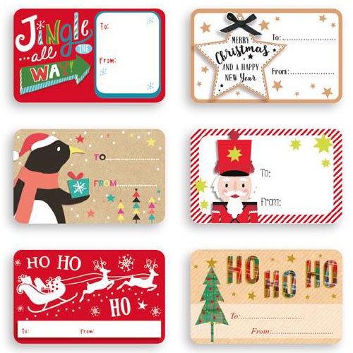 Christmas Labels.Contemporary Self Adhesive Christmas Gift Labels Pack Of 150