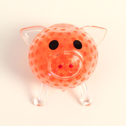Stress Relief Squishy Squeeze Ball Pig Toy With Beads 6cm Product Gallery Image