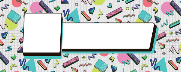 90s Abstract Pattern Design Small Personalised Banner - 4ft x 2ft
