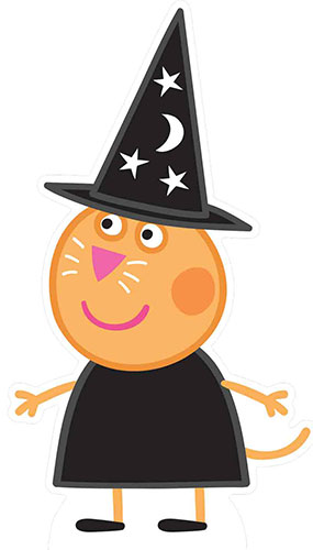 Candy Cat Peppa Pig Halloween Lifesize Cardboard Cutout 94cm Product Gallery Image