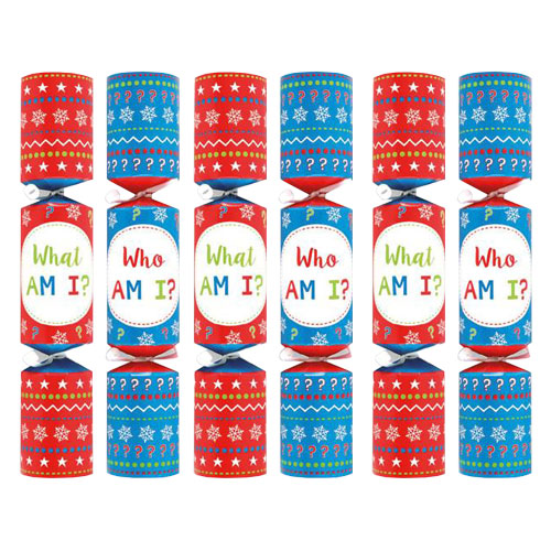 Who Or What Am I Game Christmas Crackers - Pack of 6