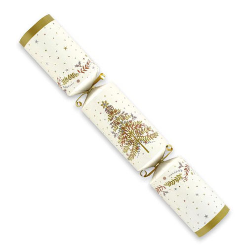 Foil Gold And Cream Christmas Crackers - Pack of 10 Product Gallery Image