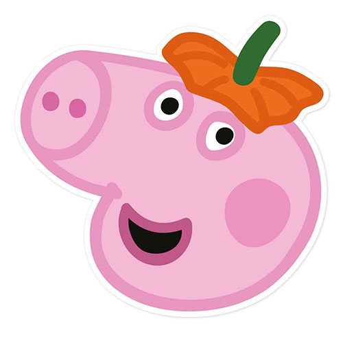 George Pig Peppa Pig Halloween Cardboard Face Mask Product Image