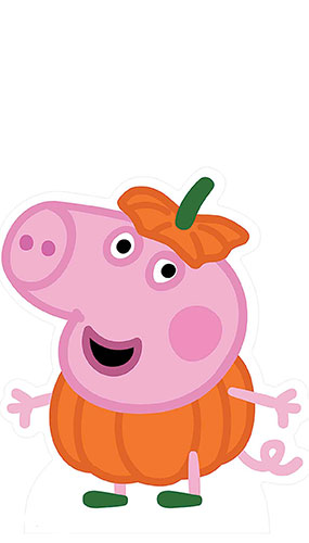 George Pig Peppa Pig Halloween Lifesize Cardboard Cutout 54cm Product Gallery Image
