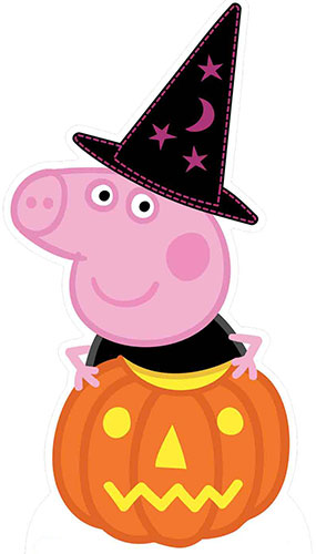 Halloween Peppa Pig Pumpkin and Magical Hat Lifesize Cardboard Cutout 94cm Product Gallery Image