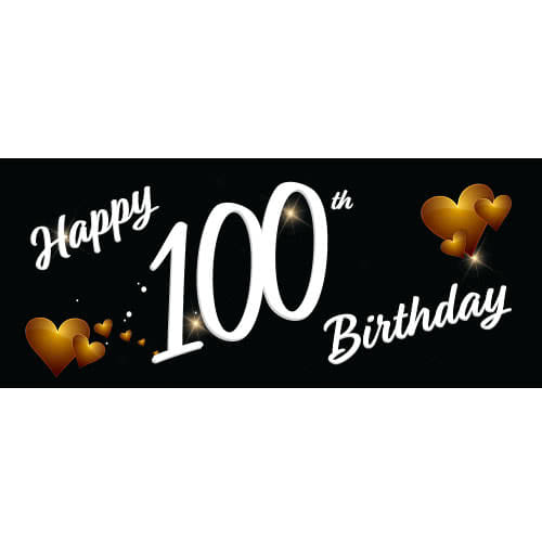 happy-100th-birthday-black-pvc-party-sign-decoration-600mm-x-255mm-product-image