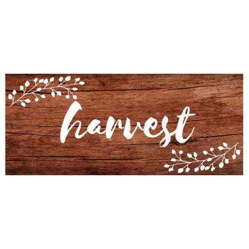 Harvest Thanksgiving Day Wooden Effect PVC Party Sign Decoration 60cm x 25cm