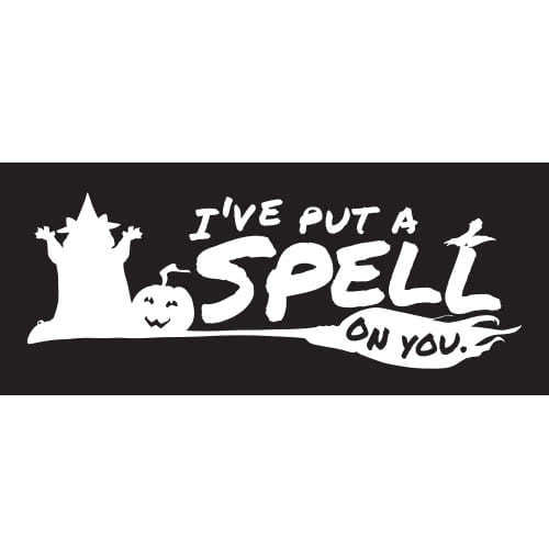 Spell On You Halloween PVC Party Sign Decoration 60cm x 25cm