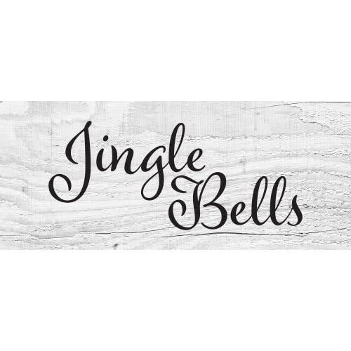 Jingle Bells Wooden Effect Christmas PVC Party Sign Decoration 60cm x 25cm Product Image