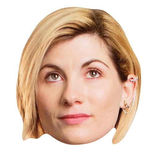 Doctor Who Jodie Whittaker 13th Doctor Cardboard Face Mask