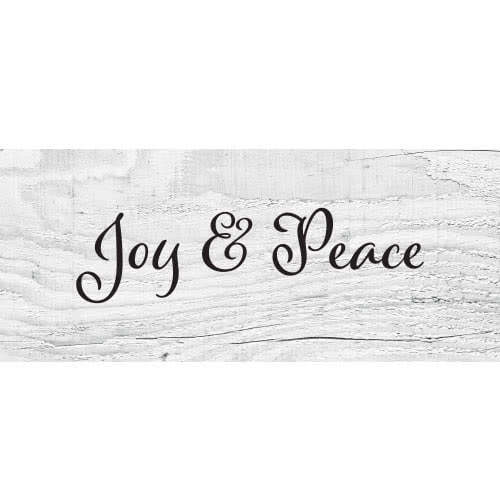 Joy And Peace Wooden Effect Christmas Pvc Party Sign Decoration 60cm X 25cm