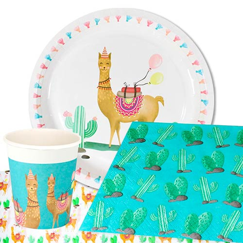 llama-party-supplies-8-person-value-party-pack