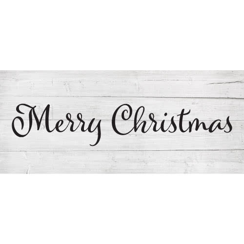 Merry Christmas Wooden Effect Christmas PVC Party Sign Decoration 60cm x 25cm