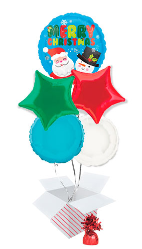 santa-and-snowman-christmas-balloon-bouquet-5-inflated-balloons-in-a-box-product-image
