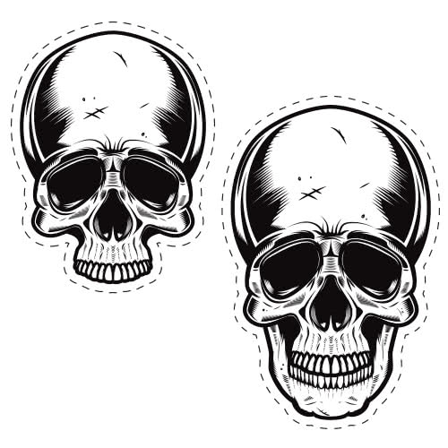 Halloween Skulls Cutting Sheet PVC Party Sign Decoration 133cm x 133cm Product Image
