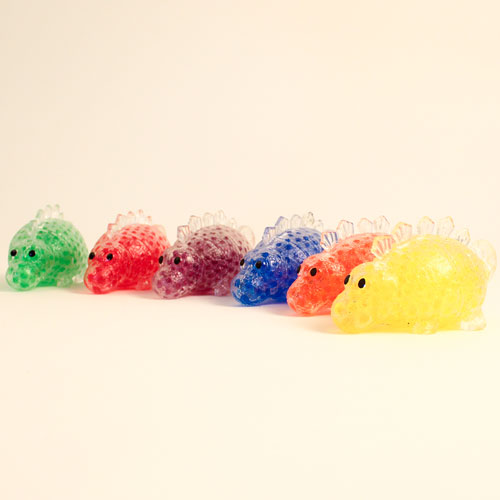Stress Relief Squishy Squeeze Dinosaur Toy With Beads 12cm Product Image