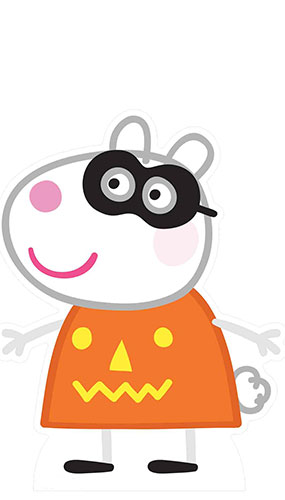 Suzy Sheep Peppa Pig Halloween Lifesize Cardboard Cutout 73cm Product Gallery Image