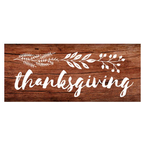 Thanksgiving Day Wooden Effect PVC Party Sign Decoration 60cm x 25cm Product Image