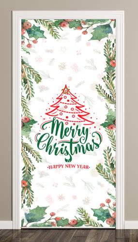 Christmas Berry Door Cover PVC Party Sign Decoration 66cm x 152cm
