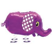 Walking Pet Elephant Foil Helium Balloon 81cm / 32Inch