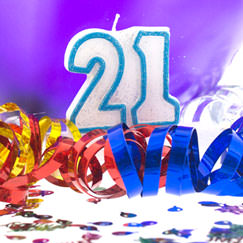 21st Birthday Party Supplies Category Image