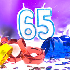 65th Birthday Party Supplies Category Image