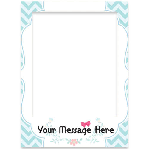 Baby Shower Personalised Selfie Frame Photo Prop Product Gallery Image