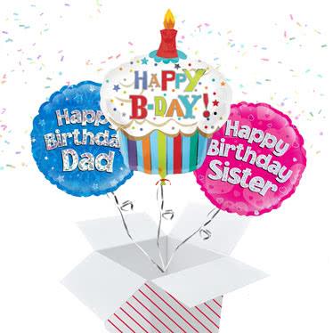 Birthday Balloon In A Box Childrens