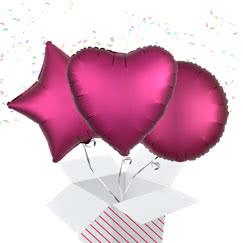 Burgundy Balloon In A Box
