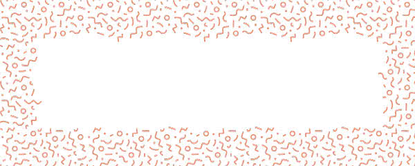 Coral Squiggle Design Small Personalised Banner - 4ft x 2ft