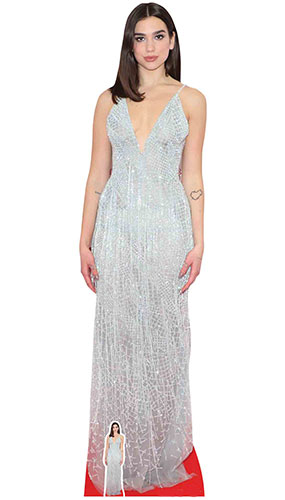 Dua Lipa White Dress Lifesize Cardboard Cutout 173cm Product Gallery Image