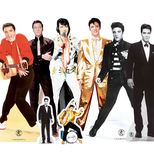 Elvis Presley Table Top Cutout Decorations - Pack of 8 Gallery Image