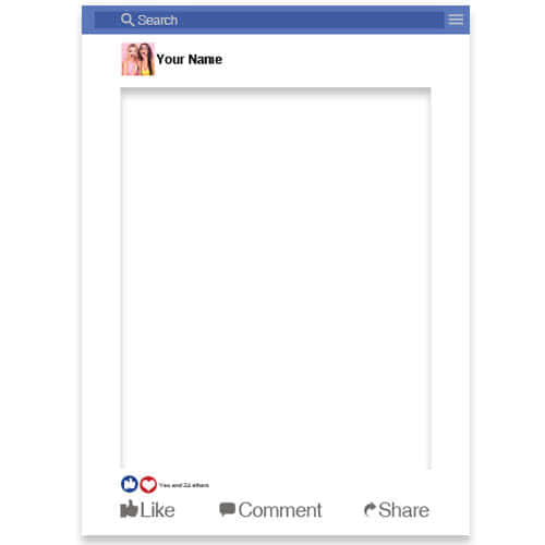 Facebook Style Personalised Selfie Frame Photo Prop Product Gallery Image