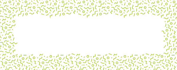 Lime Green Squiggle Design Small Personalised Banner - 4ft x 2ft