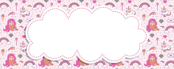 Mermaid And Caticorn Kawaii Design Large Personalised Banner - 10ft x 4ft