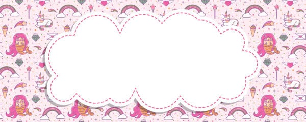 Mermaid And Caticorn Kawaii Design Small Personalised Banner - 4ft x 2ft