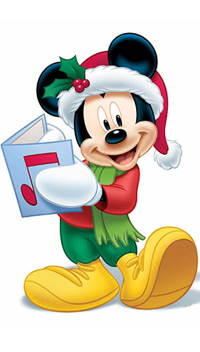 Mickey Mouse Christmas Carol Star Mini Cardboard Cutout 93cm Product Gallery Image
