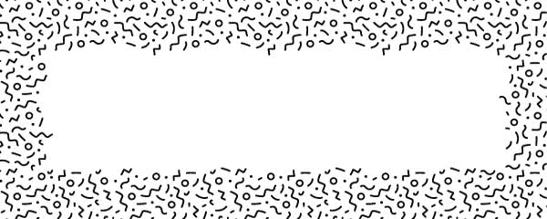 Black Squiggle Design Small Personalised Banner - 4ft x 2ft